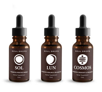Soul Drops Set of 3 Master Trinity Holistic Plant Essences