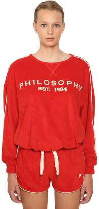 Philosophy di Lorenzo Serafini Logo Embroidered Cotton Sweater
