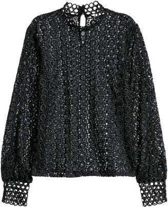 H&M Lace Blouse - Black