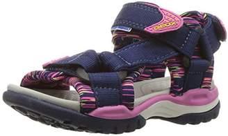 Geox Girl's J Borealis Girl Flat Sandals, Fuchsia/Sky, 24 EU/