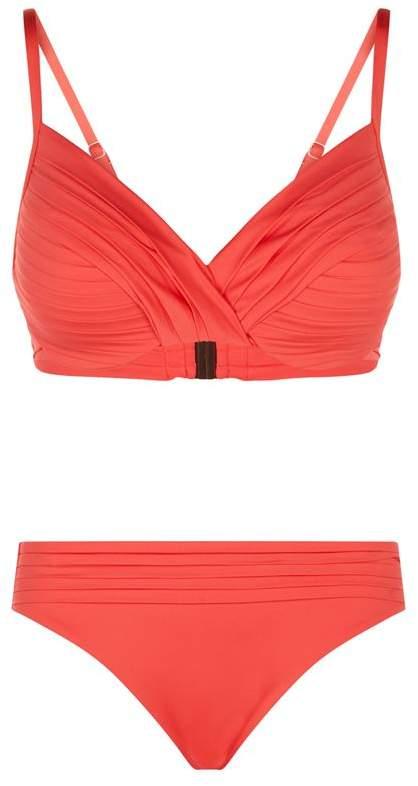 Pleated Twist Bikini
