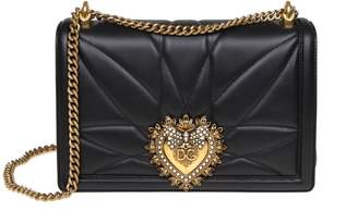 Dolce & Gabbana Big Devotion Bag In Nappa Matelasse Color Black