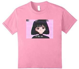 Sad Girl Retro Japanese Anime Vaporwave T-Shirt