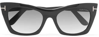 TOM FORD - Cat-eye Acetate Sunglasses - Black $390 thestylecure.com