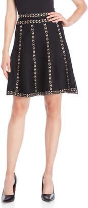 Vila Milano Boarder Stripe Knit Skirt