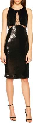 Bardot Splice Sequin Sheath Dress