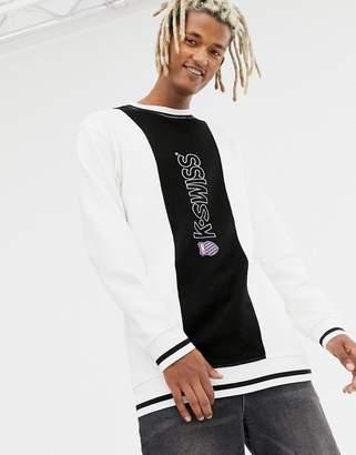 K-Swiss Stockton Pique Panel Sweatshirt In White
