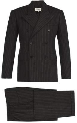 Maison Margiela Pinstripe Wool Felt Three Piece Suit - Mens - Charcoal
