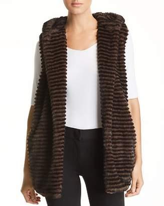 Capote Faux-Fur Hooded Vest
