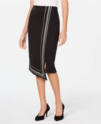 Alfani Asymmetrical-Hem Midi Skirt
