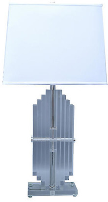 One Kings Lane Vintage Empire Stacked Lucite Table Lamp - Galleria d'Epoca