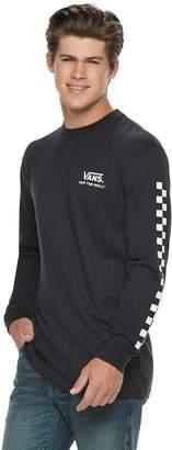 Vans Men's Check Print Long Sleeve Graphic Tee