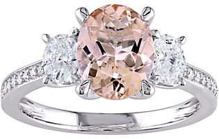 ING QVC 14K 1.65 ct Morganite & 6/10 cttw Diamond R