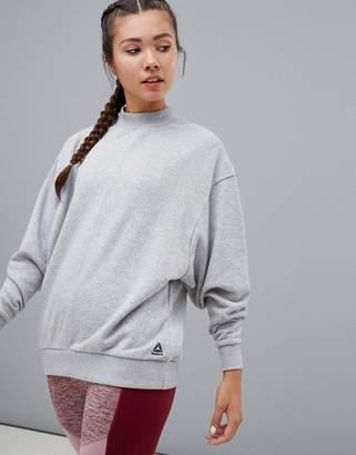 Reebok High Neck Sweatshirt In Gray