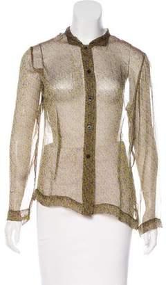 Dries Van Noten Silk Button-Up Blouse