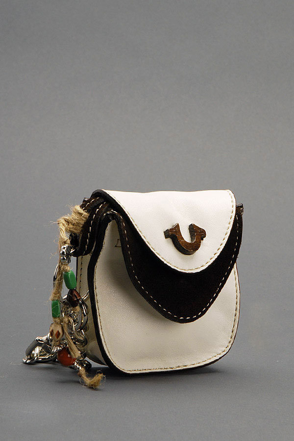 Sisi Pouch in Nappa Leather - White/Brown