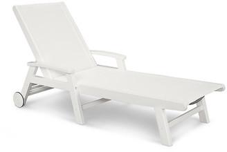 Polywood Coastal Chaise - White