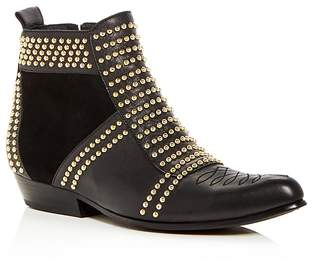 Anine Bing Women's Charlie Studded Leather & Suede Booties