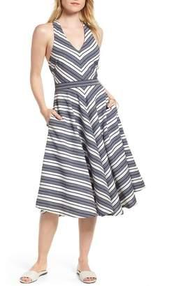 1901 Stripe V-Neck Dress