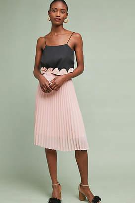 Just Female Pleated Shine Midi Skirt