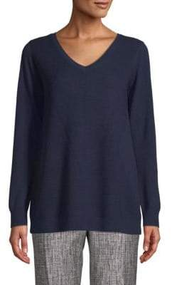 St. John V-Neck Wool Sweater