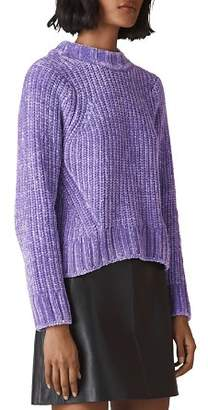 Whistles Cropped Chenille Sweater