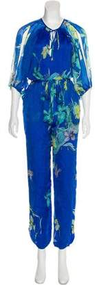 Matthew Williamson Silk Floral Jumpsuit w/ Tags