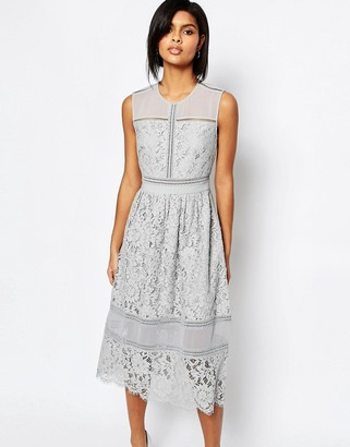 Whistles Midi Dress in Bonded Lace $356 thestylecure.com
