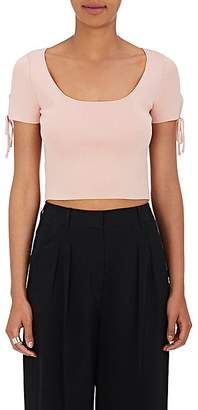 Alexander Wang WOMEN'S RIB-KNIT CROP TOP