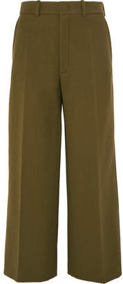Joseph Ferrandi Wool-blend Wide-leg Pants - Army green