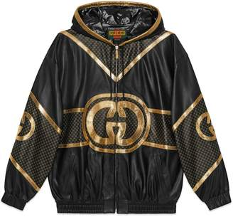 Gucci Dapper Dan hooded bomber