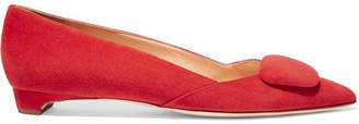 Rupert Sanderson Suede Point-toe Flats - Red