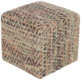 Surya Dahlia Cube Pouf