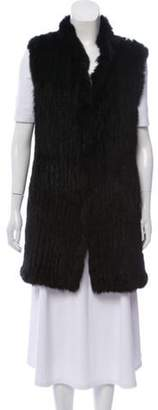 Love Token Fur-Trimmed Mock Neck Vest Black Fur-Trimmed Mock Neck Vest