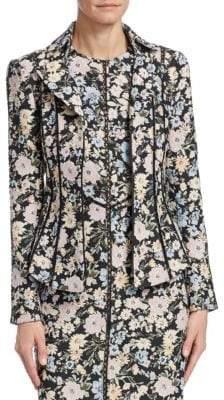 Nanette Lepore Women's Floral-Print Playwright Jacket - Black Multi - Size 0