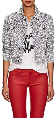 Current/Elliott Women's Animal-Print Denim Jacket
