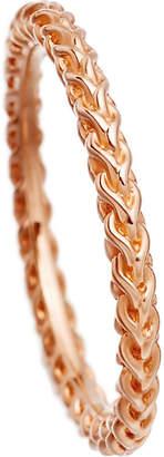 Astley Clarke Stilla Spiga 18ct rose gold-plated chain ring