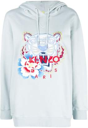Kenzo embroidered tiger logo hoodie