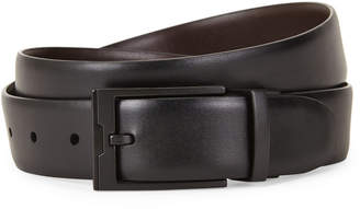 Perry Ellis Portfolio Black Reversible Bonded Leather Belt