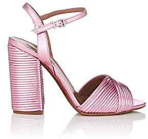 Tabitha Simmons Women's Kali Pleated Leather Sandals - Pink