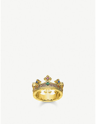 Thomas Sabo Crown 18ct yellow gold-plated sterling-silver ring