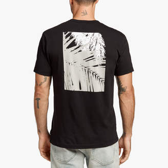 James Perse TONAL PALMS GRAPHIC TEE