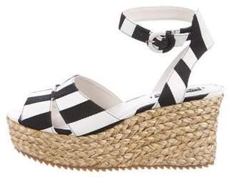 Alice + Olivia Striped Platform Sandals