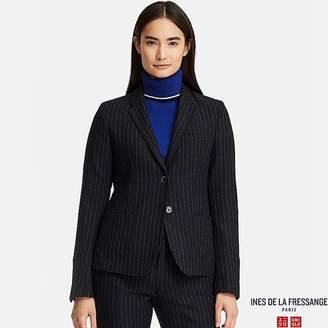 Uniqlo Women's Soft Tweed Striped Jacket (ines De La Fressange)