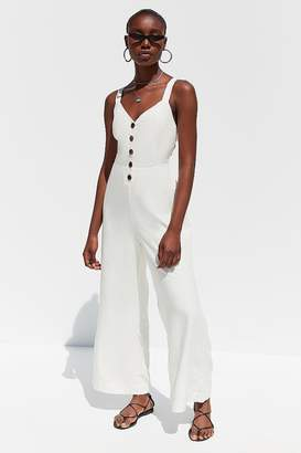 Urban Outfitters Ashley Button-Down Tie-Back Jumpsuit