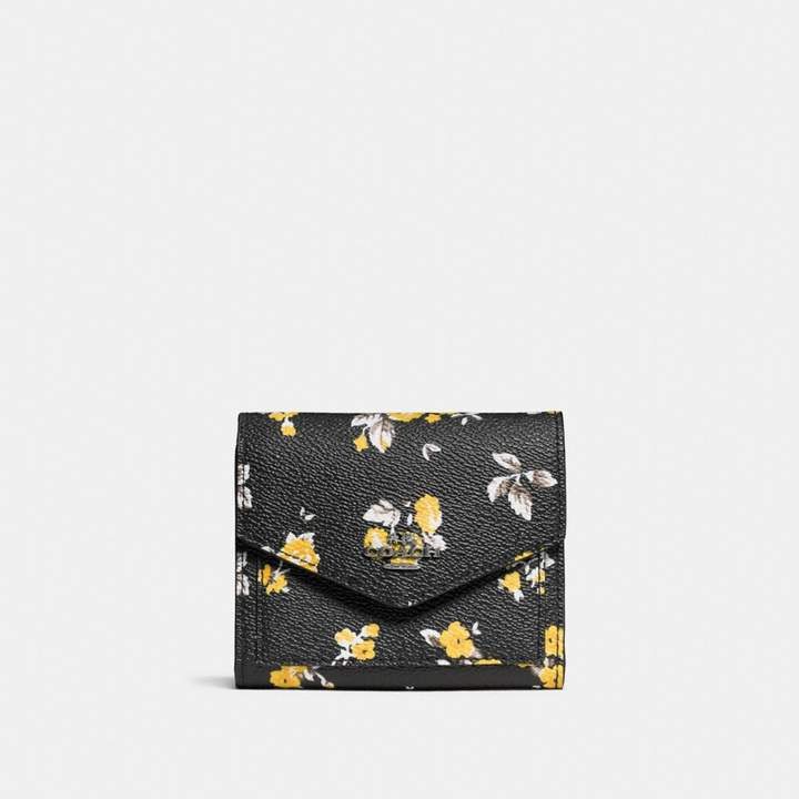 Coach Small Wallet With Prairie Print - PRAIRIE PRINT BLACK/DARK GUNMETAL - STYLE