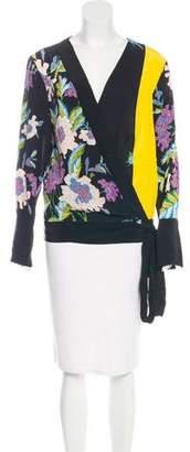 Diane von Furstenberg Silk Printed Kimono Top