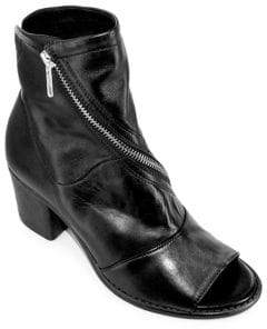 White Mountain Summit By Fantasia SI0130 Spiral-Zip Leather Booties