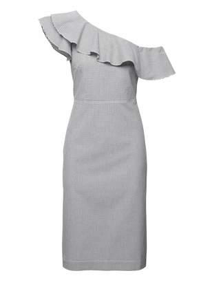 Banana Republic Seersucker One-Shoulder Dress