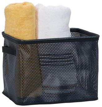 Household Essentials Eva Mesh Medium Storage Basket Tote, Black